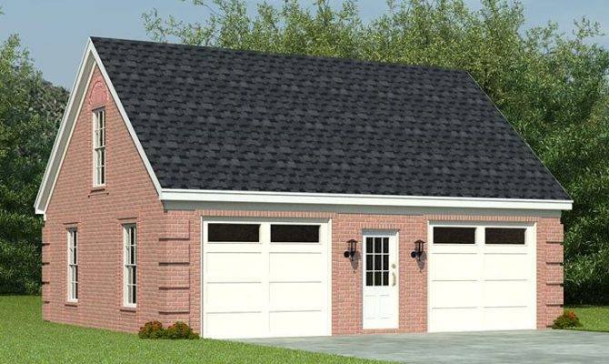 Two Car Garage Plans Loft Plan Split Bays