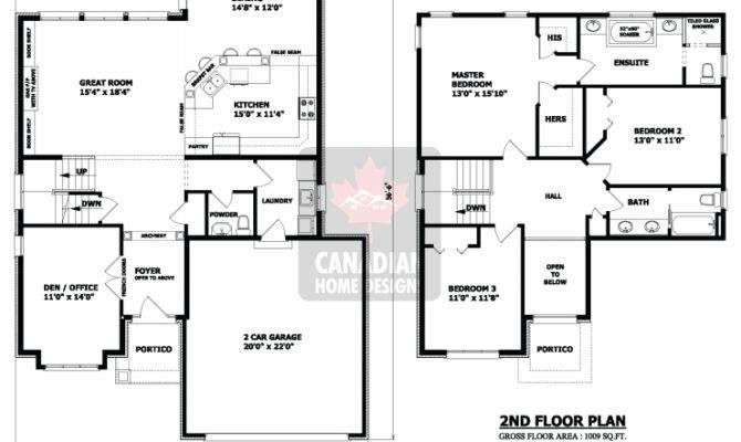 Two Storey House Plan Bedrooms Bathrooms