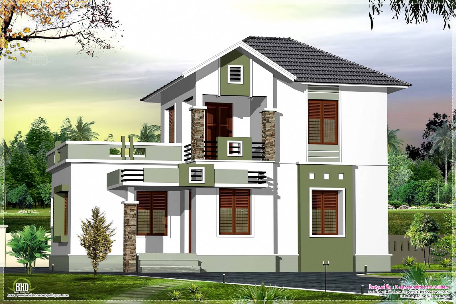 Two Story House Plans Balconies Sri Lanka Home Building