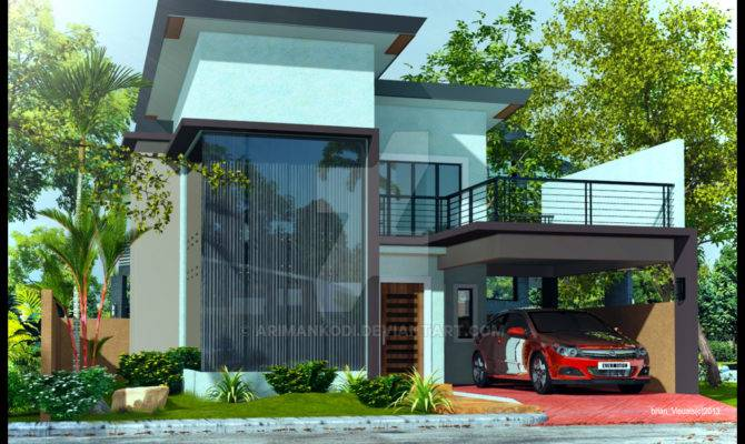 Two Story Modern House Designs Storey