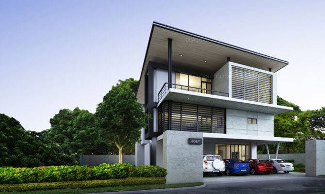 Two Story Modern House Designs