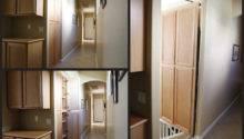 Ukryte Przej Cie Piwnicy Lub Pomieszczenia Jako Wbudowana Szafa