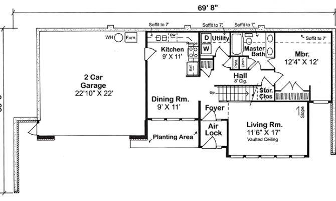 Underground House Plans Earth Sheltered Home Berm