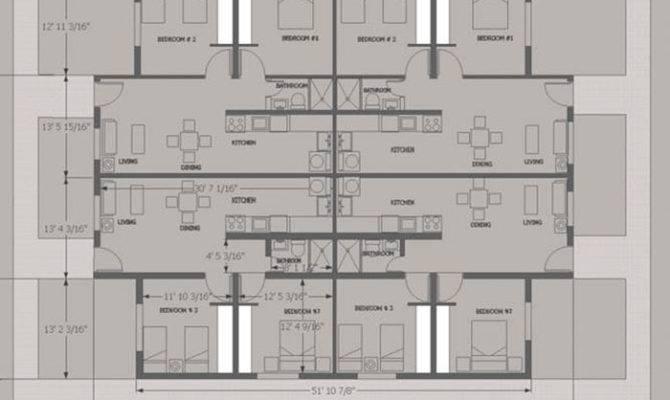 Unit Apartment Building Plans Willow Apartments