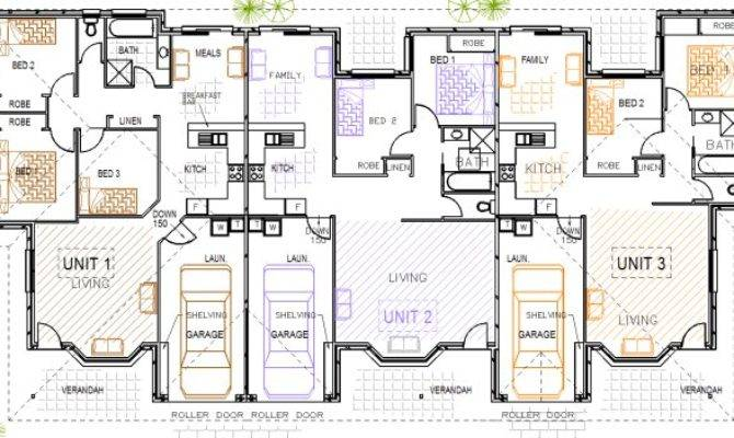 Unit Triplex Design Kit Home Designs Australian Homes Steel