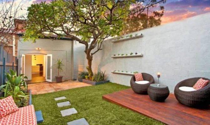 Urban Small Courtyard Decking Ideas Backyard Design