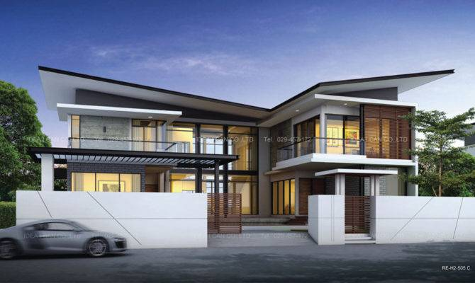 User Community Storey Modern House Design Perspective