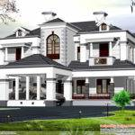 Victorian Style Bhk Home Design Kerala Floor Plans