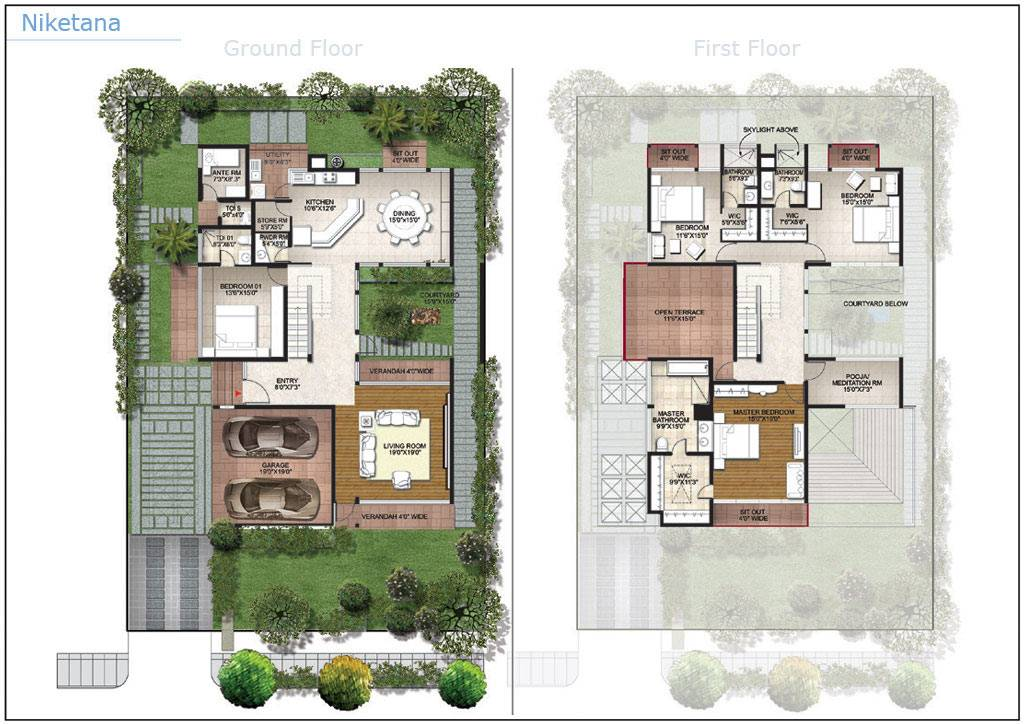 Villa plan arbors lake bangalore residential property buy for Villa design plan