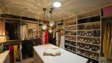 Walk Closet Island Transitional California Closets