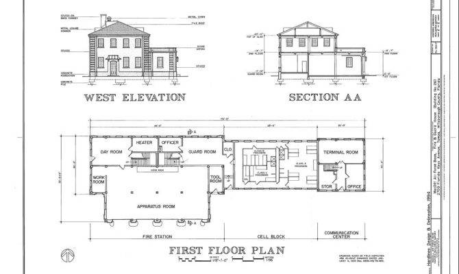 West Elevation Section First Floor Plan Macdill Air Force Base