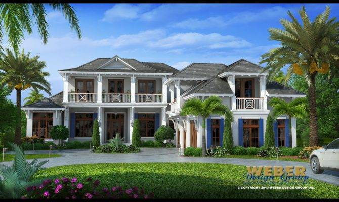 West Indies House Plan Villa Veletta Weber Design Group