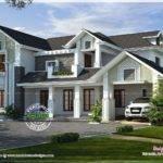 Western Style House Rendering Kerala Home Design Floor Plans