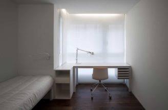 White Bedroom Office Interior Design Ideas