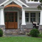 Wood Deck Stone Front Porch Door Ideas Pinterest