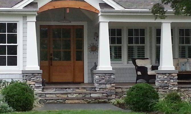 Wood Deck Stone Front Porch Door Ideas Pinterest
