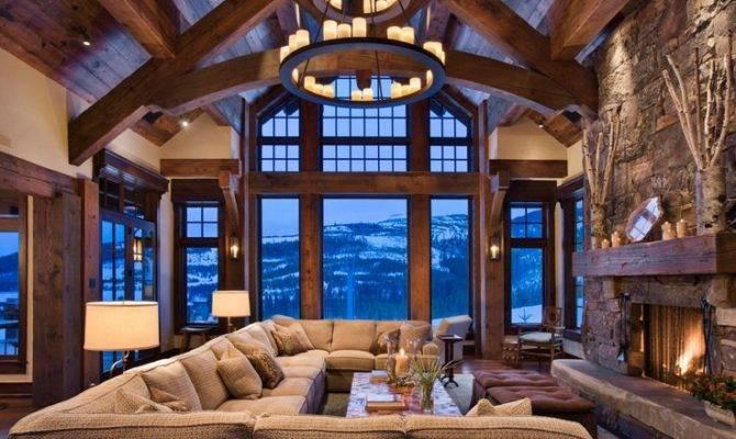 World Architecture Rustic Chalet Interior Design Ideas