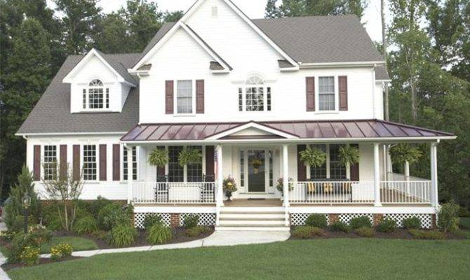 Wrap Around Porch Country Style House