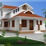 Yards Beautiful Sloping Roof Villa Positive Designs Kerala