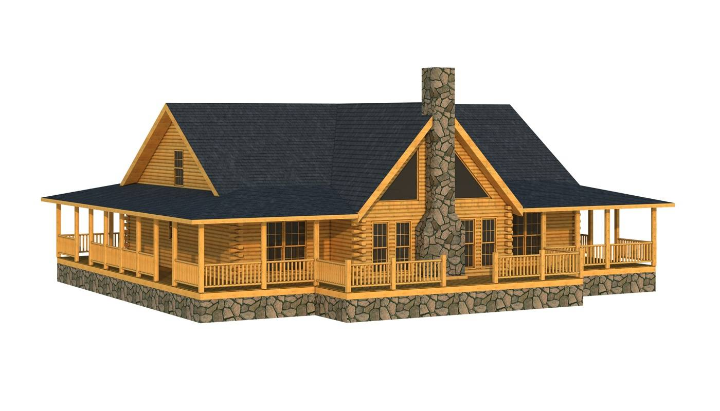 Abbeville Log Home Cabin Plans