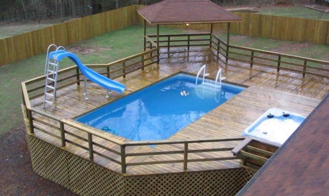 Above Ground Pool Deck Design