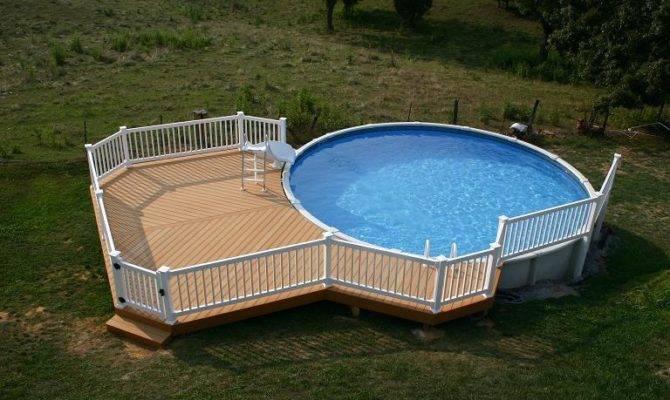 Above Ground Pools Decks Fence Unique Design