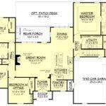 Acadian House Plan Bedrm Home