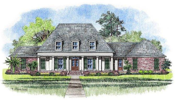 Acadian Style House Plans Gomez