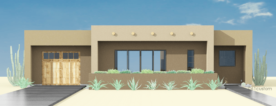 Adobe House Plan Custom Contemporary Modern Plans