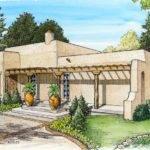 Adobe House Plans Small Southwestern Home Plan