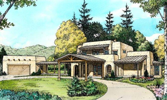 Adobe House Plans Two Story Home Plan Design