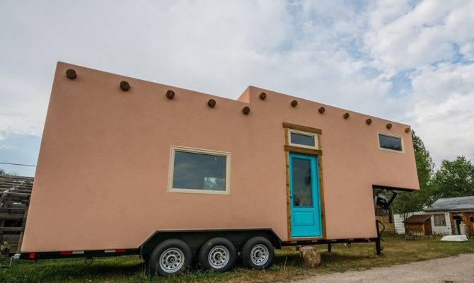 Adobe Style Tiny House Wheels