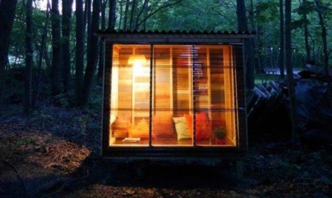 Adorably Tiny Study Cabin Built Using