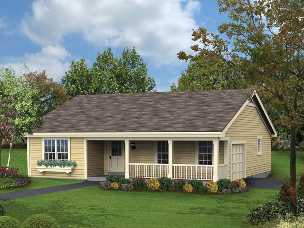 Affordable Ranch House Plans Single Story Porches