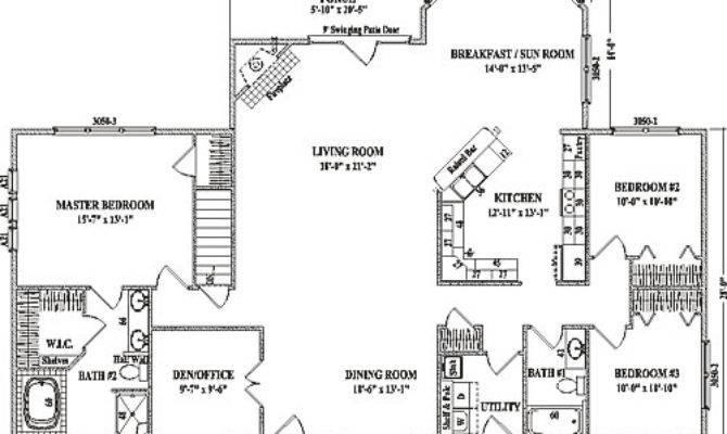 Alexandria Iii Wardcraft Homes Ranch Floorplan