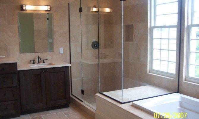 All Travertine Custom Master Bathroom