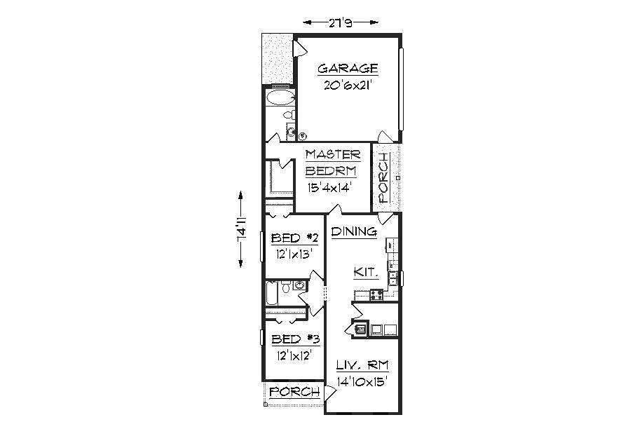 Alternate Version Plan Without Garage Floor