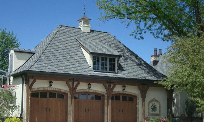 Amazing French Style Garage Much Detail Wood Beams
