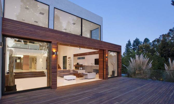 Amazing Home Modern Beverly Hills House Wood Glass Stone