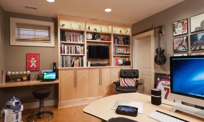 Amazing Man Cave Designs Office Interior