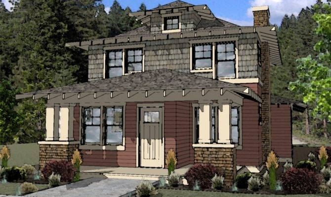 American Foursquare Style House Plan Bend Oregon Boards Plans