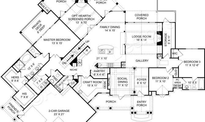 Amicalola Cottage Rustic House Plans Small