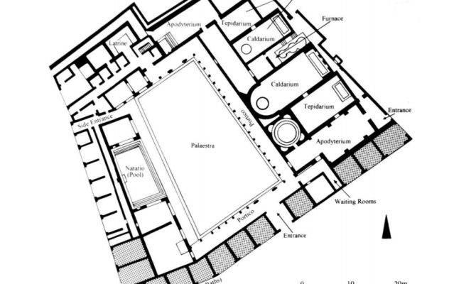 Ancient Roman Baths Layout Stabian Bce