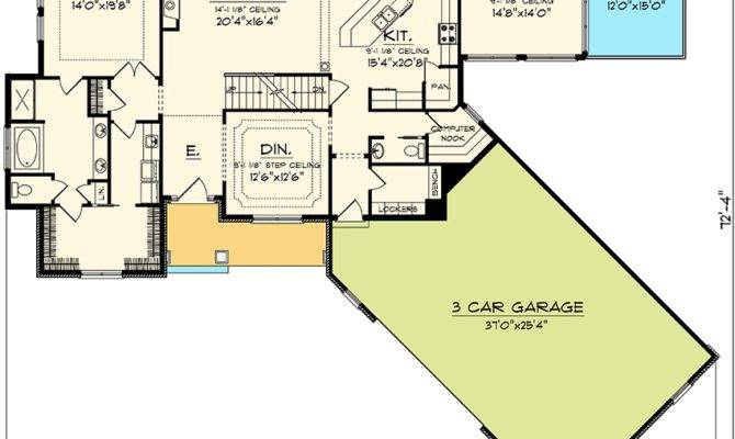 Angled Garage Home Plan Architectural Designs