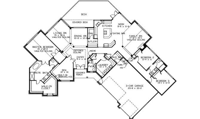 Angled House Plans Ranch Garage