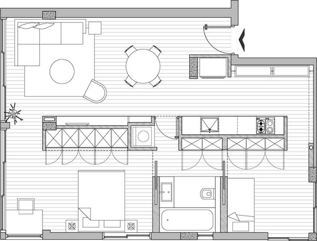 Apartment Blueprints Floor Small Renovation Plans