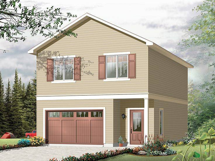 Apartment Plans Carriage House Plan Single Car Garage Design