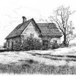 Appalachee Farmhouse Drawing Peter Muzyka