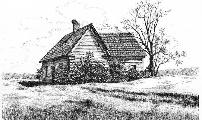 Appalachee Farmhouse Drawing Peter Muzyka