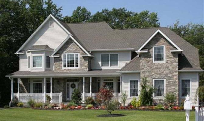 Applying Stone Veneer Houses Exterior Good